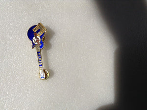 Paris B2-7269 Gold Appearance Blue Les Paul w/Arc de Triomphe - HRC Logo Back -
