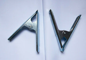 "X 10 6"" Metal Sprung Stall Clamp Clips useful for many applications"