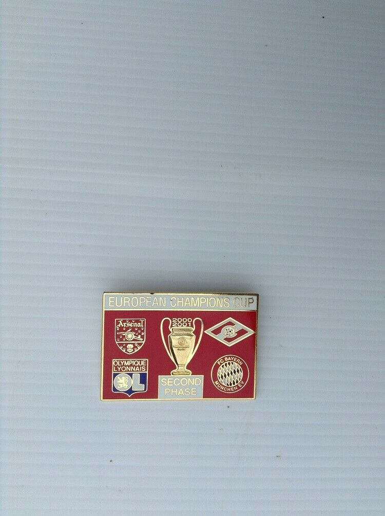 Arsenal European champions cup second phase 2000-2001 collectors pin badge