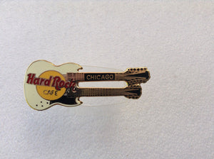 Chicago DOUBLE NECK HRC enamel pin B16-244 Logo - Hard Rock 2 Lines1997 mint