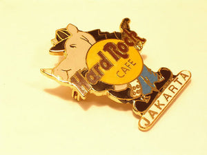 JAKARTA RINO IN JACKET HRC PIN B9-356 Mint Condition post worldwide collectables Hard Rock Café