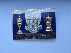 Tottenham Hotspur FC 1961 Football league champions-FA cup winners Lapel badge