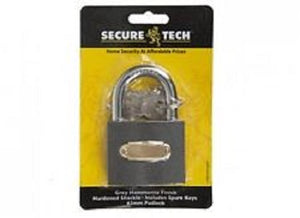 X 2 GREY HAMMERITE FINISH 50MM PADLOCK Home security at affordable prices