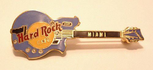 MIAMI Hard Rock Café PIN B2-21 Vintage collectors pinNational Glenwood 95 : Blue