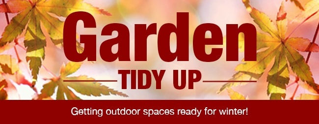 Garden Tidy Up  Getting out Door Spaces Ready for winter!