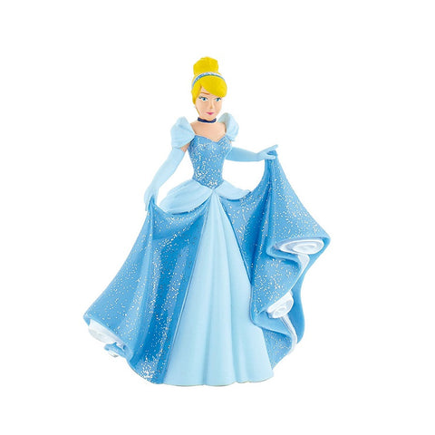 Handpainted Princess Cinderella in a glittery blue dress