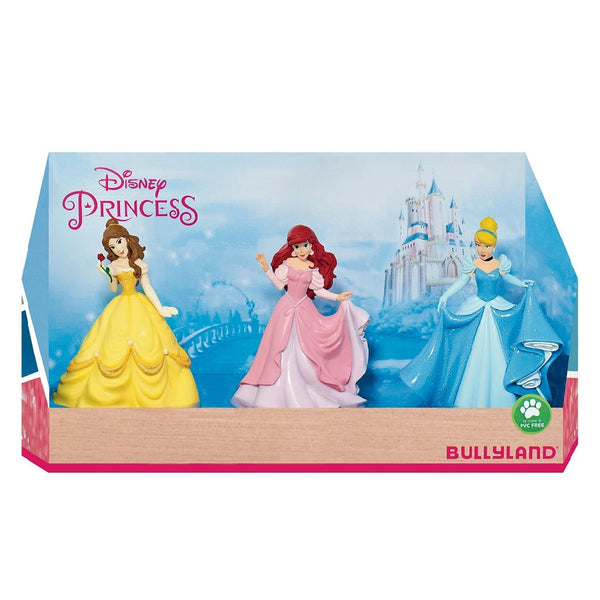 Yalla Toys l Bullyland l Disney's Princess Belle, Cinderella and Ariel Gift Box Figurines