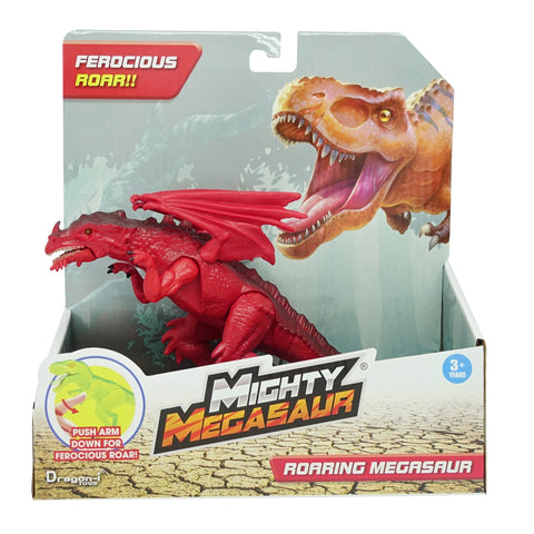 Mighty Megasaur 20cm Light & Sound Dino 6 Assorted (Dragon Red)