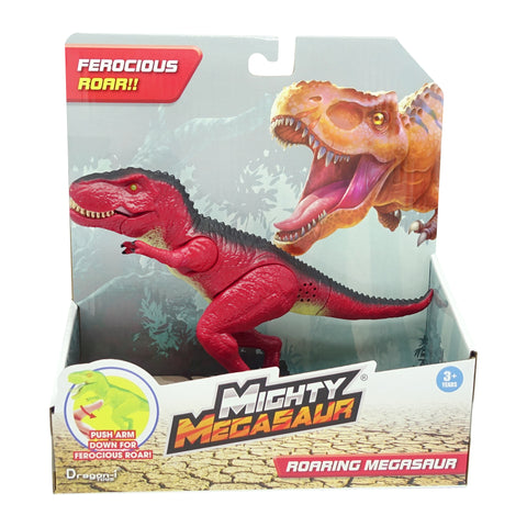 Mighty Megasaur 20cm Light & Sound Dino 6 Assorted (Red)