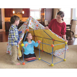 Yalla Toys l Discovery Kids l 72 Piece Build & Play Construction Fort packaging