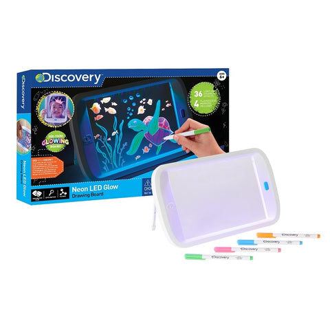 Yalla Toys l Discovery l STEM Toy Drawing Light Board Neon Glow