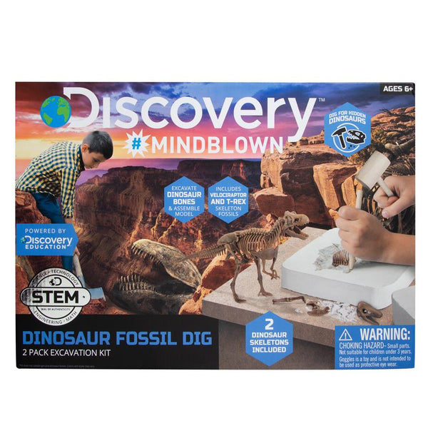 discovery mindblown excavation kit dinosaur