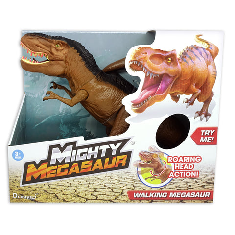 Mighty Megasaur Battery Operated Walking Dinosaur (Head Moving)