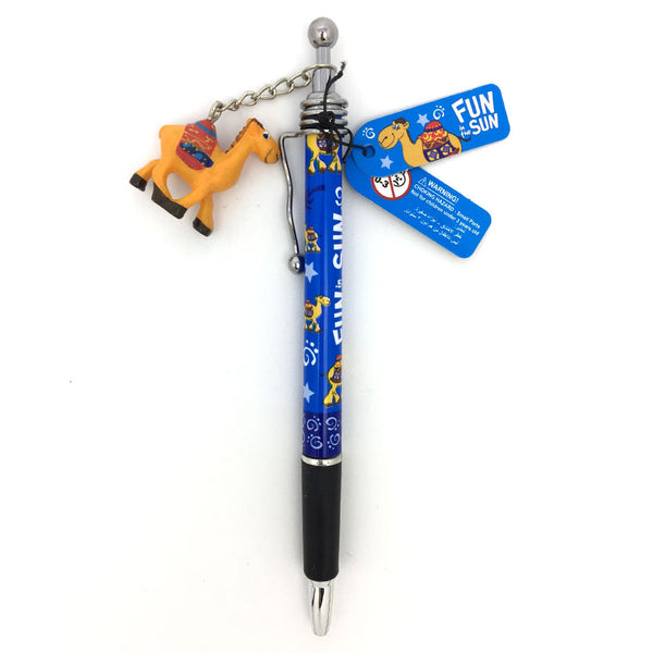 FUN IN THE SUN BLUE CAMEL CHARM PEN