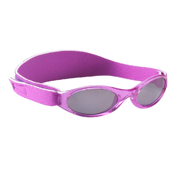 Purple sunglasses with head side strap