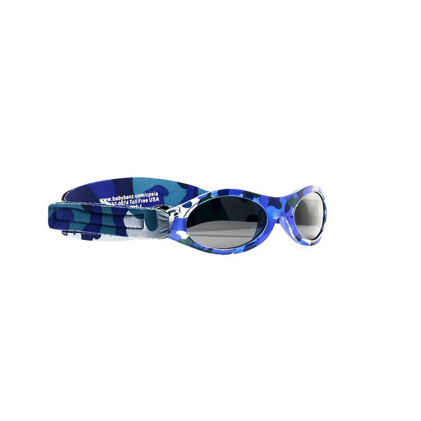 Baby Blue Camo Sunglasses with headstrap