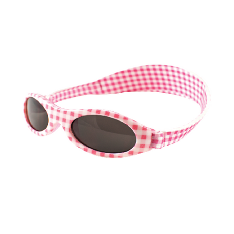 Baby Pink Check Sunglasses with headstrap