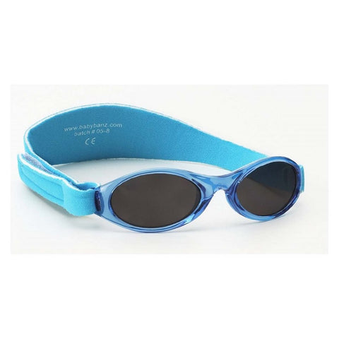 Aqua Blue Sunglasses with head side strap
