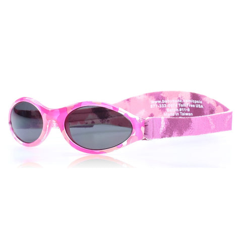 Pink camo Sunglasses with head side strap