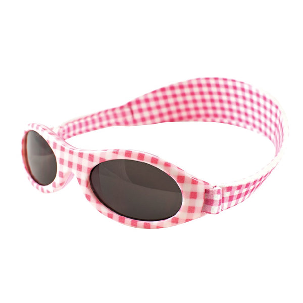 Pink check Sunglasses with head side strap
