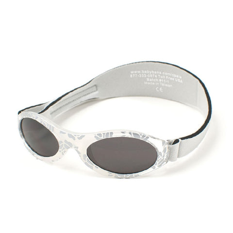 Sliver Sunglasses with leaf design and head side strap