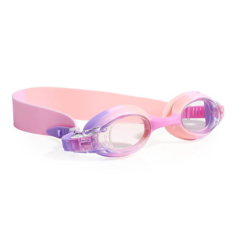 Praline Pink swimming goggles with headstrap