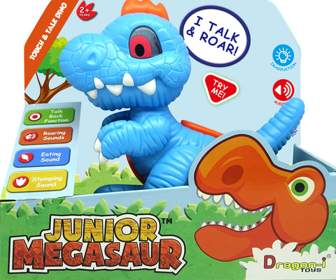Junior Megasaur Interactive Talking Trex - Plays Dinos Sounds And Repeat What You Say