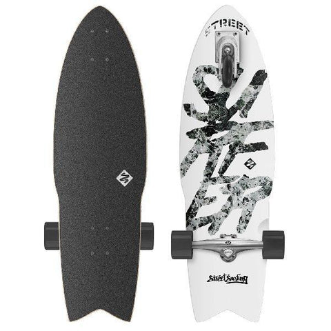 street surfing shark attack white