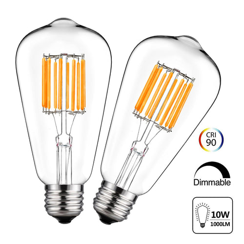 ST64 Vintage Dimmable Edison LED Bulb