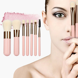 Portable Makeup Brush Set 7pcs