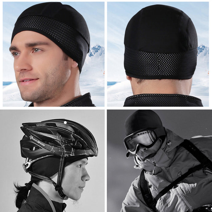 Windproof Thermal Helmet Liner Bicycle Skull Cap