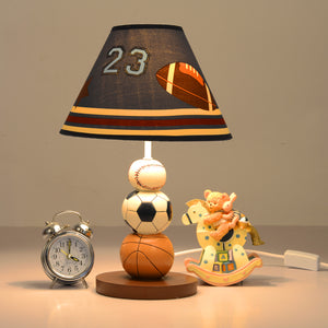 Ball Game Sports Warm White LED Bedside Lamps for Kids