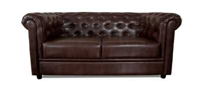 Royale Chesterfield Leatherette Sofa