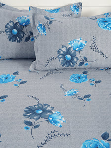 Swayam 180TC Swayam Caramel Floral King Fitted Sheet Set