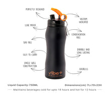 Vibe + Single Wall 750 ml Stainless Steel Water Bottle