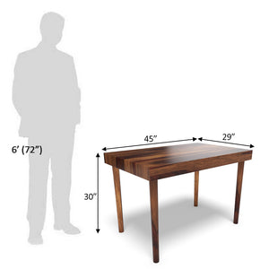 Classic Wooden Dining Table In Dark Honey Polish With One Year Warranty