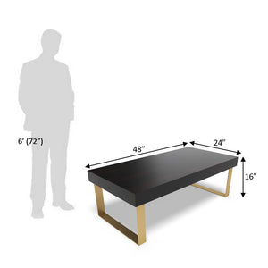 Good Times Center Table In Ebony Polish With One Year Warranty