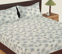 Swayam 300TC Floral Print Cotton Double Bedsheet with 2 Pillow Cover