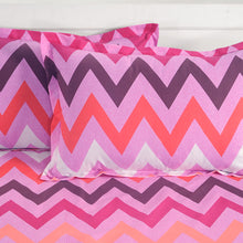 Swayam 144TC Geometrical Print Double Fitted sheet with 2 Pillow Cover