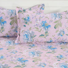 Swayam 144TC Floral Print Cotton Double Fitted Sheet with 2 Pillow Cover