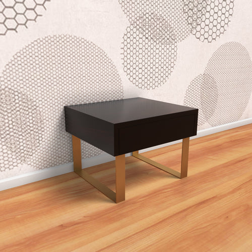Classic Meets Urban Bedside Table In Ebony Polish With One Year Warranty