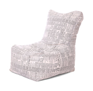 Multi Colour XXL Chair Newspaper Printed Bean Bag With Fillers (Bean Bag)