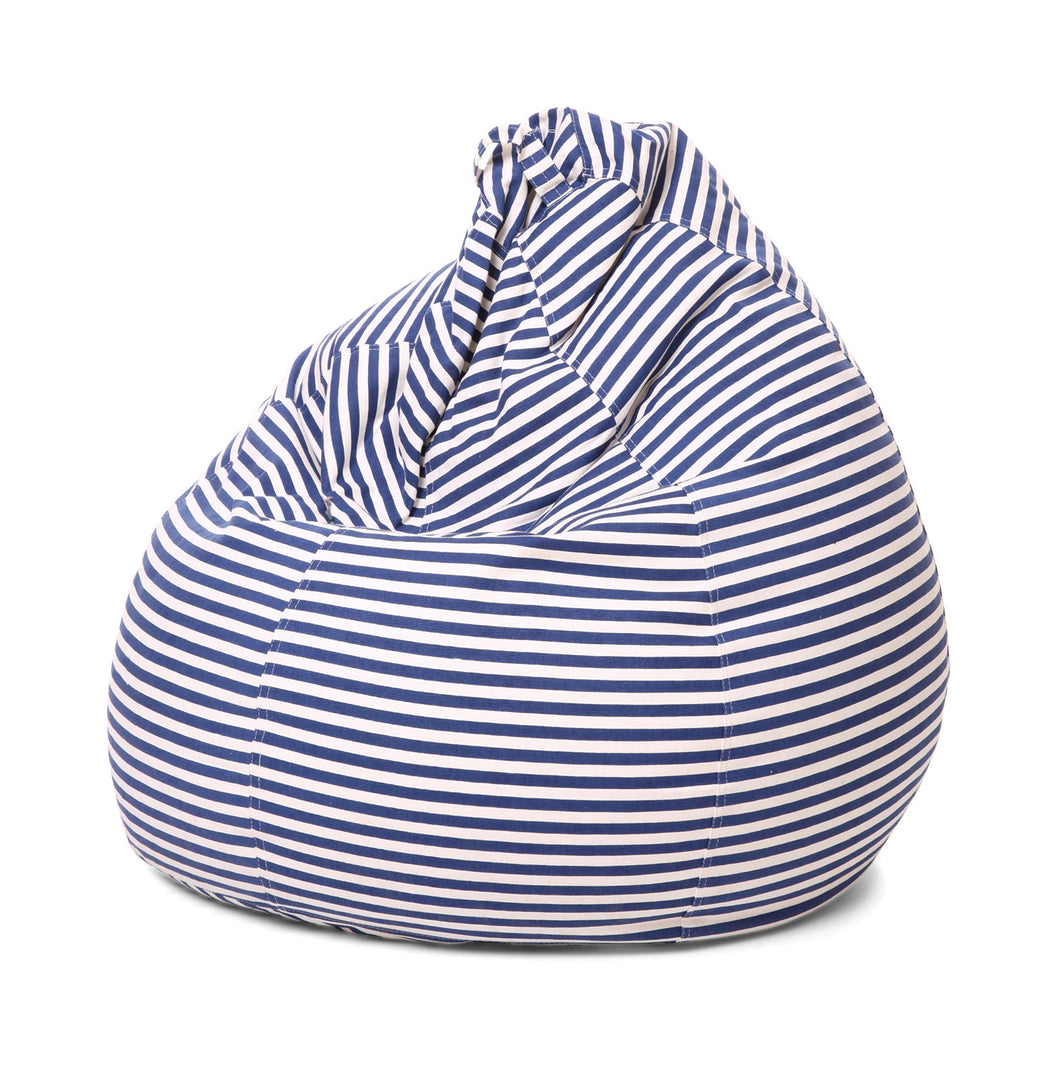 Black and White XL Stripes Bean Bag Cover Without Fillers (Bean Bag)