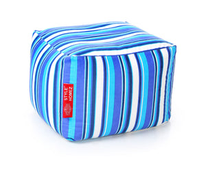 Blue Large Ottoman Bean Bag With Fillers (Ottoman)