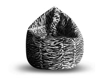 Black and White XXXL Printed Bean Bag (Bean Bag)