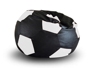 Black and White XXL Football Bean Bag Cover Without Fillers (Bean Bag)