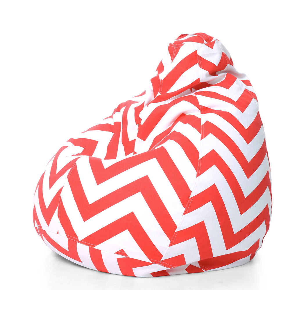 Multi Colour XL Stripes Bean Bag Cover Without Fillers (Bean Bag)