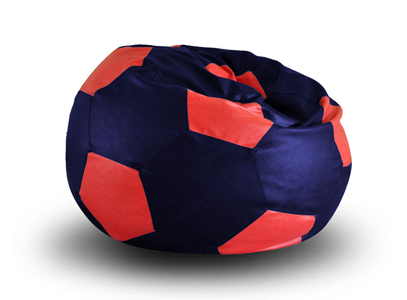 Blue and Red XXL Football Bean Bag Cover Without Fillers (Bean Bag)