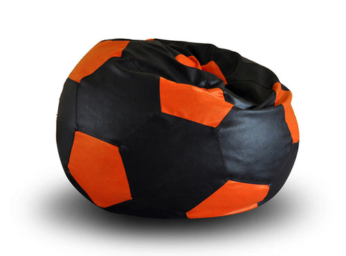 Black XXL Football Bean Bag Cover Without Fillers (Bean Bag)