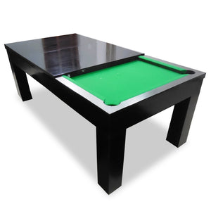 Pool And Dining Table With Accessories In Rich Solid Wood